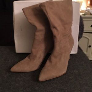 Beautiful suede mink colored boots